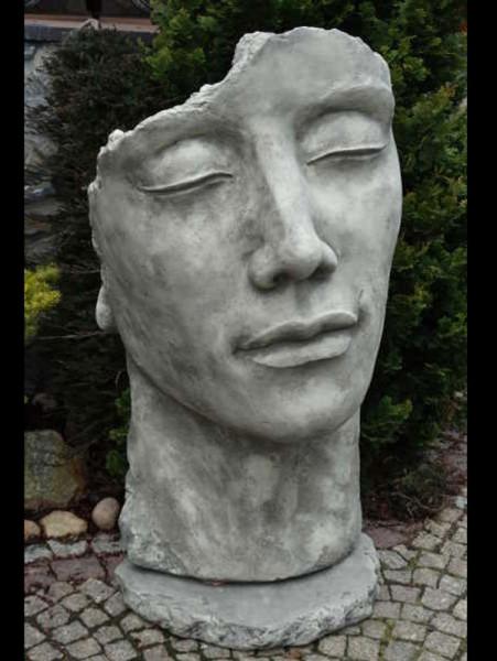 Betonbüste - Gesicht 'Mann' - Skulptur - XXL-Produkt