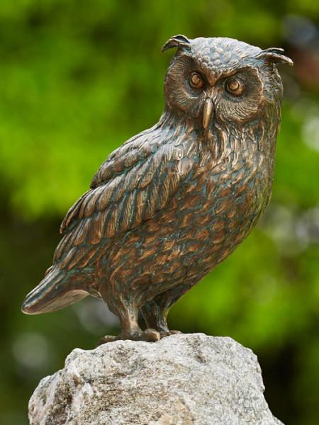 Bronzefigur Uhu, sitzend(Art.Nr. 88878)
