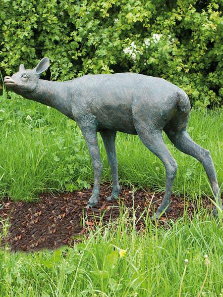 Bronzefigur Rehgeiß (Art.Nr. 88286)