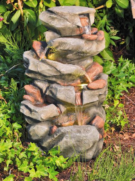 Wasserfall-Brunnen Minu aus Polystone (Art.Nr. gr386)