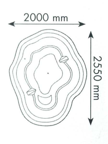 Teichbecken 180 Bio (GFK) - XXL-Produkt