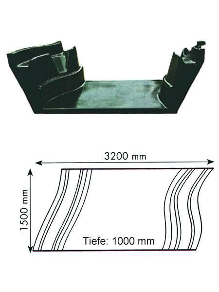 Teich-Element 'Koi 1000 - Bogen' (GFK) (Art.Nr. KRU16110)