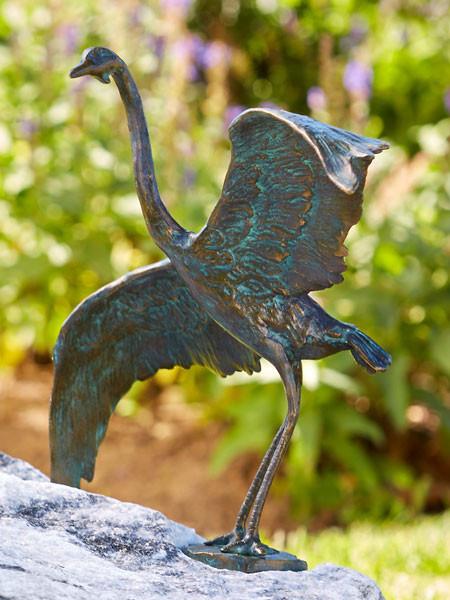 Bronzefigur Graureiher Kopf links (Art.Nr. 88851)