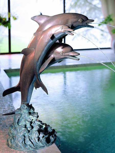Bronzefigur Delfine trio (Art.Nr. 88132)