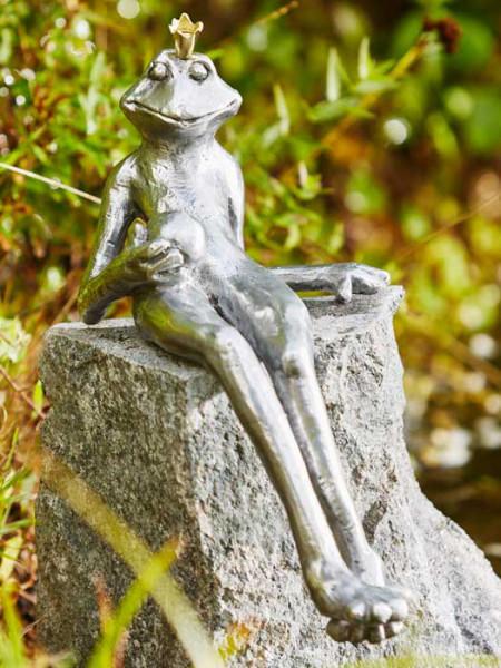 Aluminium-Figur Froschkönig Gunter(Art.Nr. 88765alu)