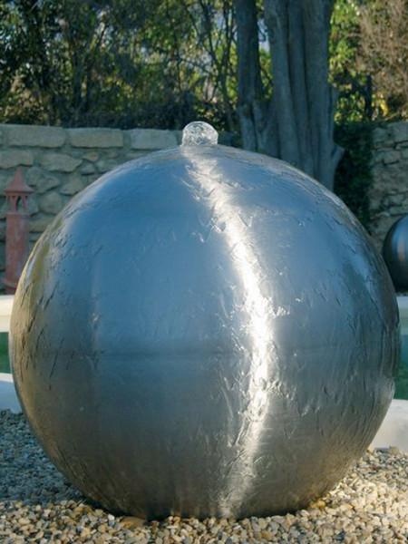 Edelstahlkugel für Brunnen, matt gebürstet
