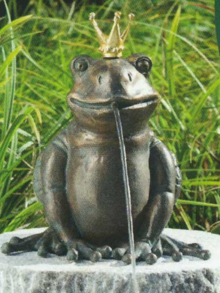 Bronzefigur Froschkönig Teodor (Art.Nr. 88495)