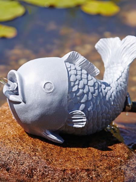 Wasserspeier Fisch seitlich