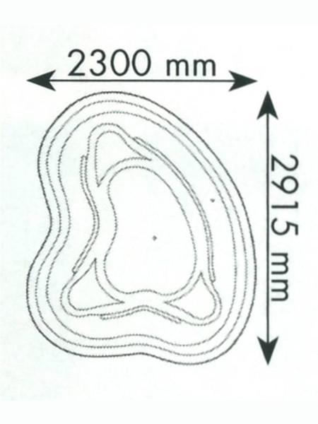 Teichbecken 152 Bio (GFK) - XXL-Produkt
