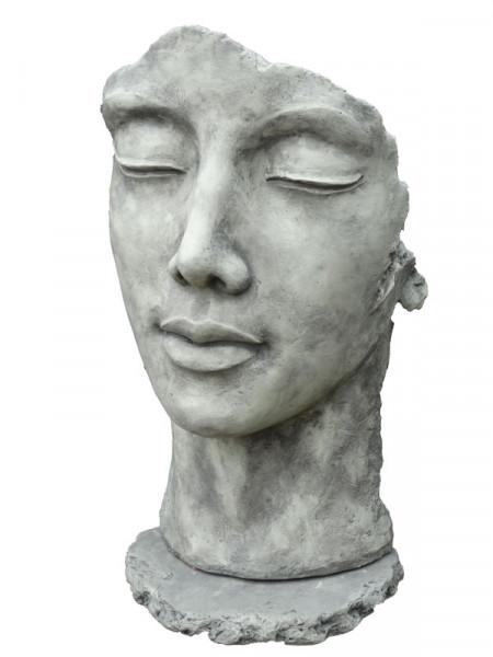Betonbüste - Gesicht 'Frau' - Skulptur - XXL-Produkt