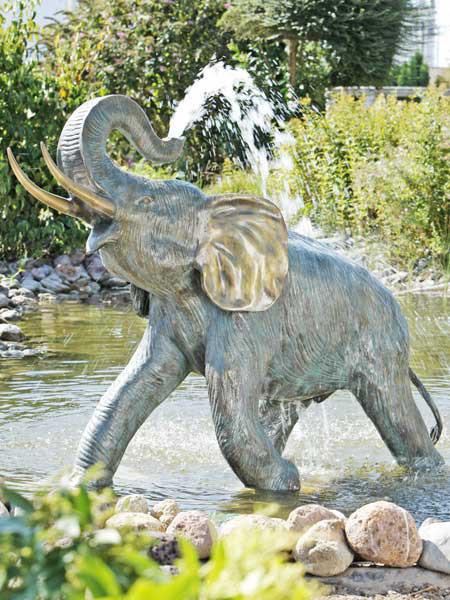 Bronzefigur Junger Elefant (Art.Nr. 88171)