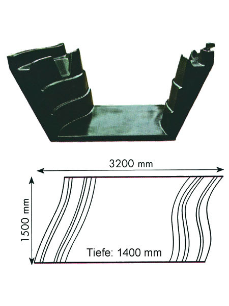 Teich-Element 'Koi 1400 - Bogen' (GFK) (Art.Nr. KRU16114)
