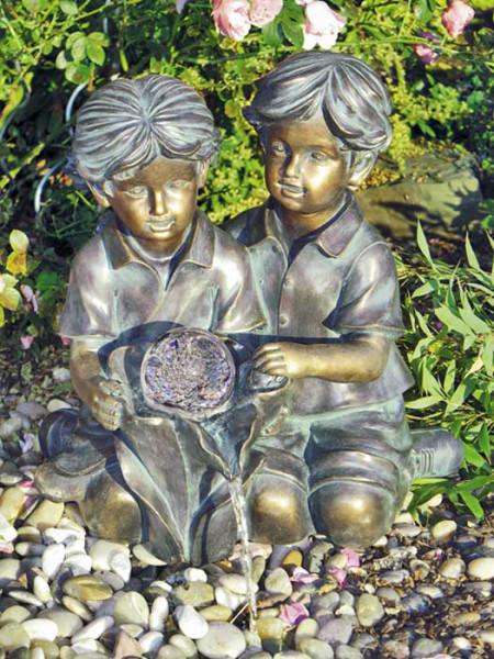 """Wasserspeier """"Kim und Tim"""" aus Polystone (Art.Nr. gr875)"""